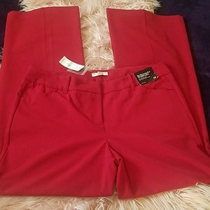 New york and company red pants. Size 12. NWT